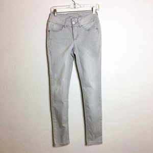 7 For All Mankind Gray Tummyless Skinny Jeans